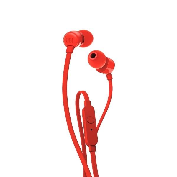 Auriculares JBL T110 Mic Rojo