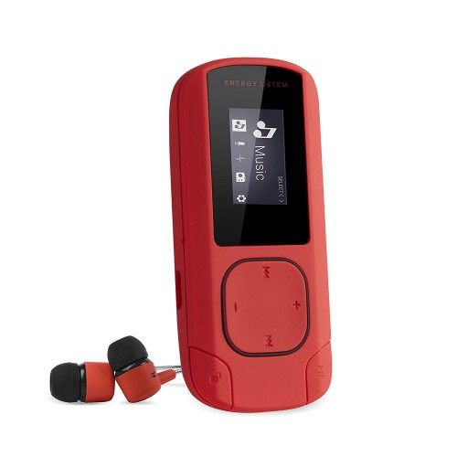 Mp3 Energy Sistem Clip 8GB Rojo Coral