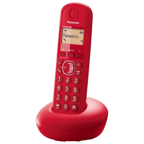 Teléfono Inalambrico Panasonic KX-TG210SPR Single Rojo