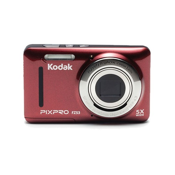 """Kodak PIXPRO FZ53 Cámara compacta 16MP 1/2.3"""" CMOS 4608 x 3456Pixeles Rojo"""