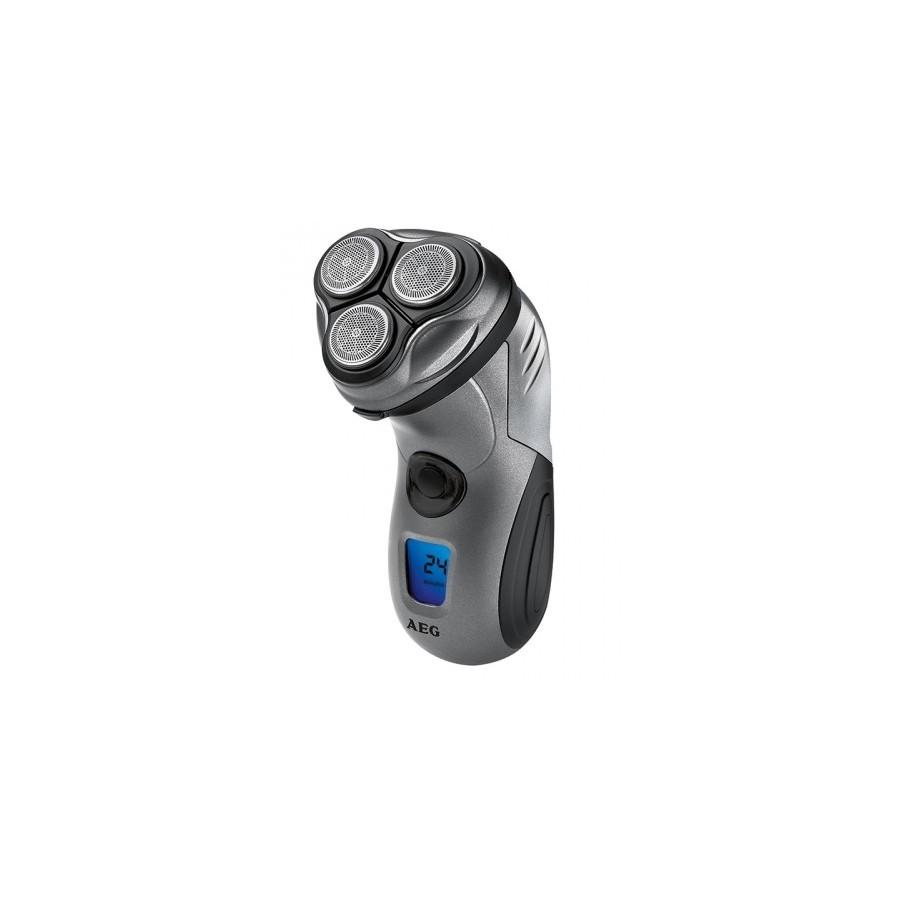 AEG HR 5655 Máquina de afeitar de rotación Recortadora Negro, Plata afeitadora
