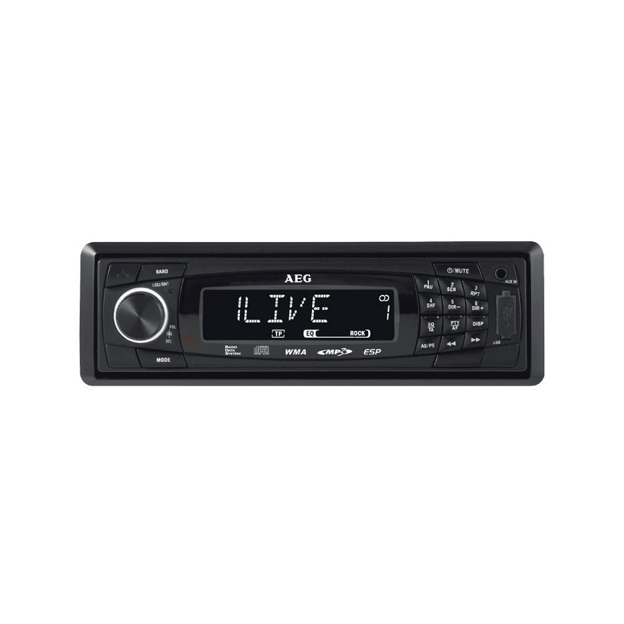 AEG AR 4020 Negro receptor multimedia para coche