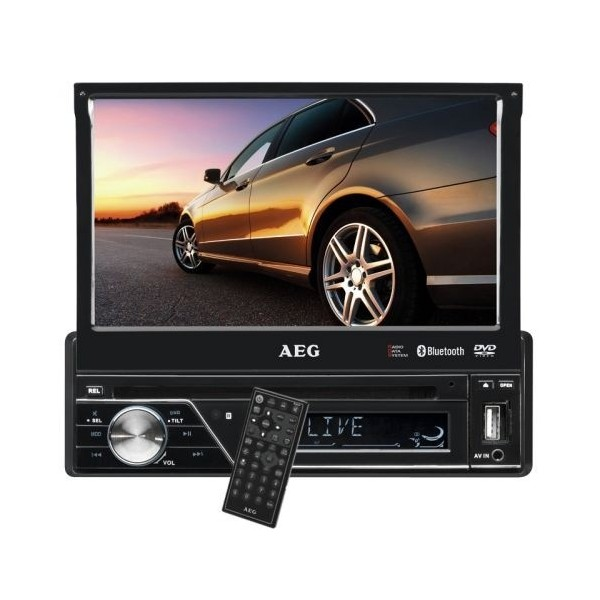 AEG AR 4026 DVD Bluetooth Negro receptor multimedia para coche