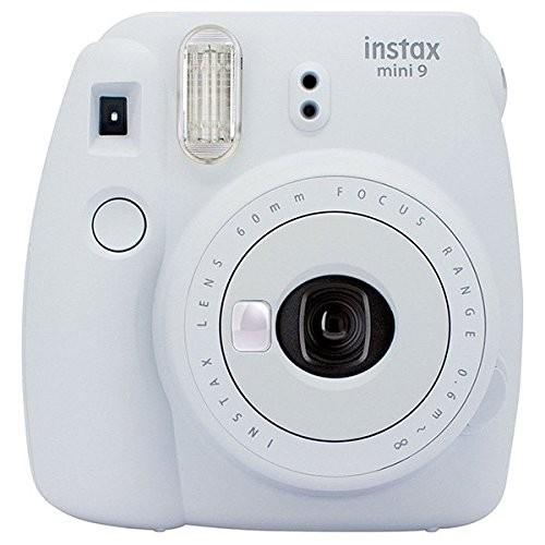 Kit Cámara Fujifilm Instax Mini 9 + Pelicula 10 fotos + Funda Blanca
