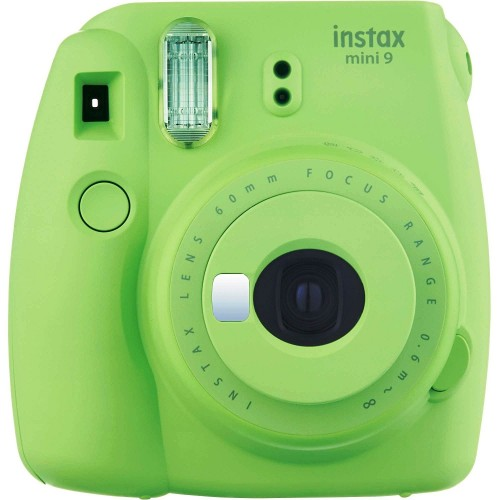 Kit Cámara Fujifilm Instax Mini 9 + Pelicula 10 fotos + Funda Verde