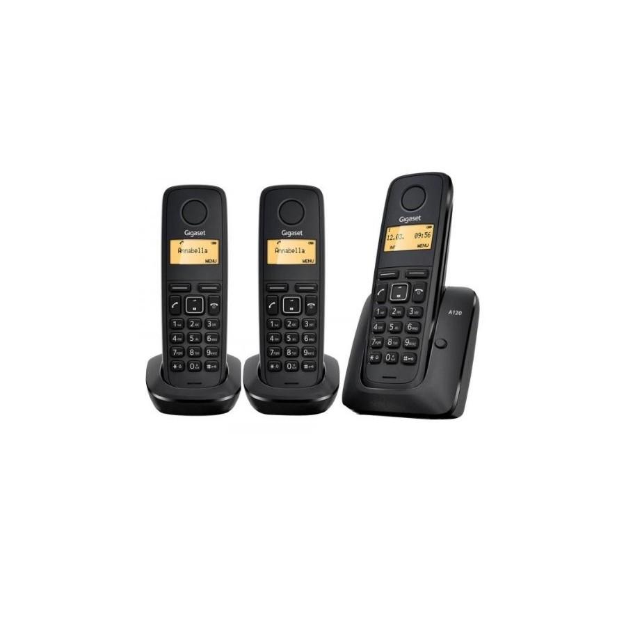 Teléfono Siemens Gigaset A120 Trio Inalambrico Black