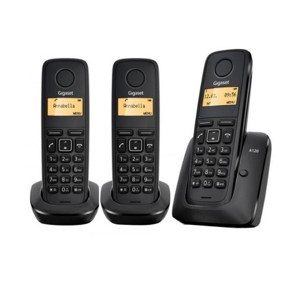 Teléfono Siemens Gigaset A120 Trio Inalámbrico Black