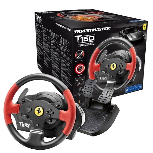 Volante Thrustmaster T150 Ferrari Edition - PS4/PS3/PC - Force Feedback