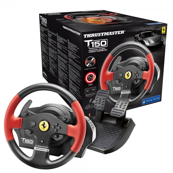 Thrustmaster T150 Ferrari Edition - Volante - PS4/PS3/PC - Force Feedback