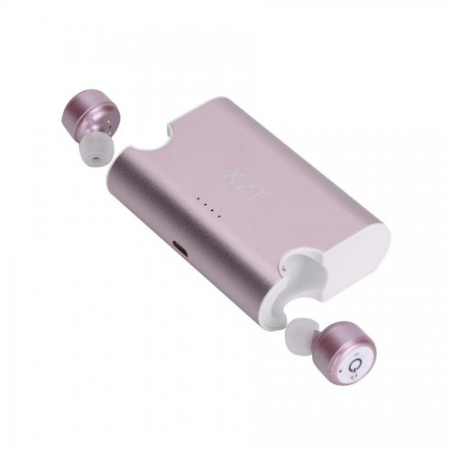 Mini Auriculares X2T Bluetooth Power stand Box Rosa