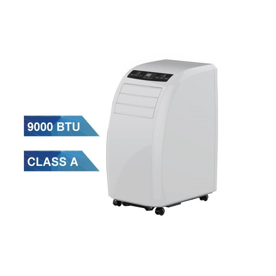 Aire Acondicionado Portátil Kricon KRI-09H2 de 9000 BTU con calefacción Clase A de color blanco