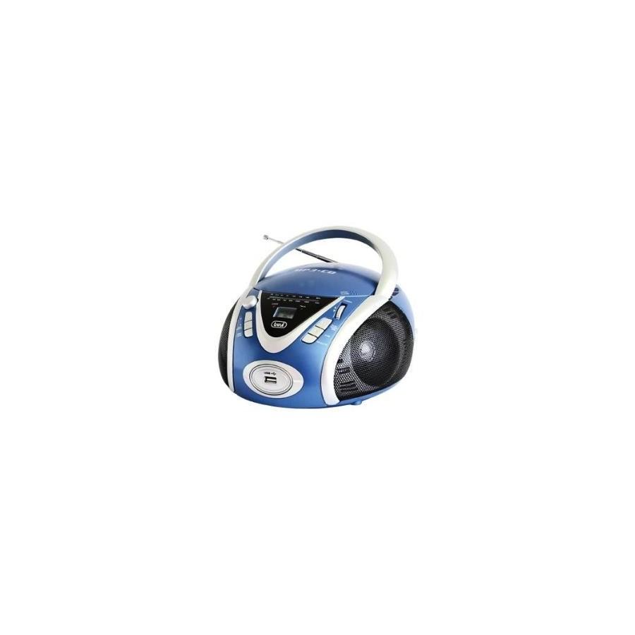 RADIO CD TREVI CMP 542 USB PORTATIL AZUL