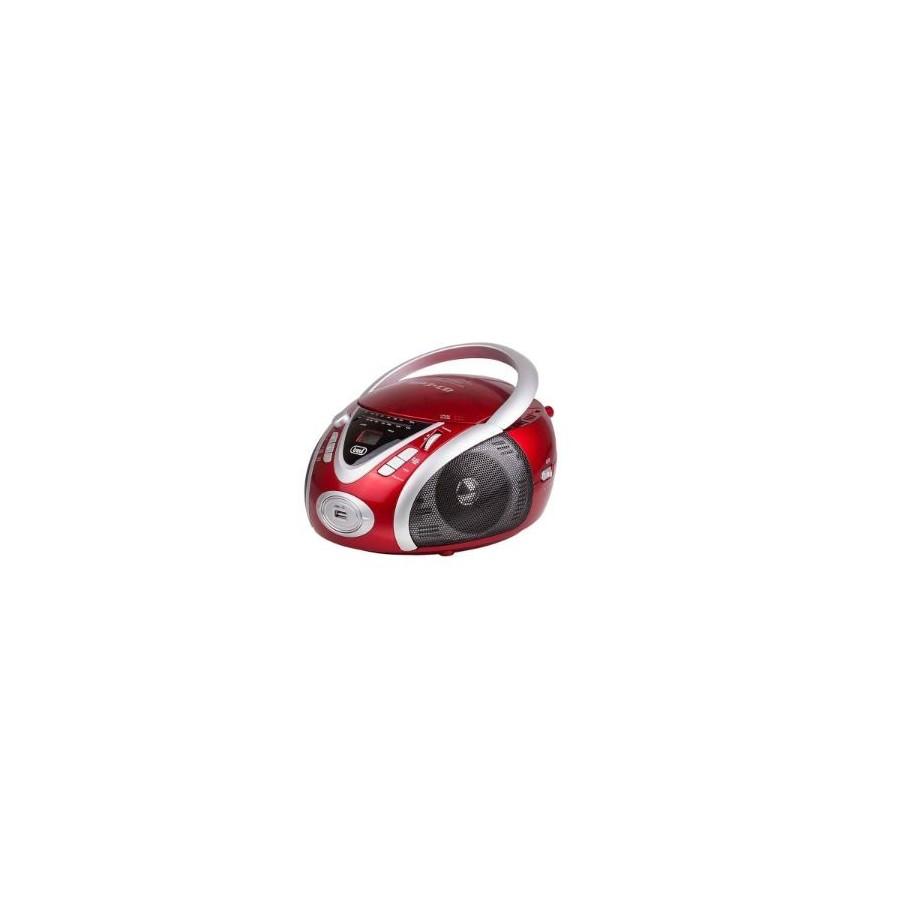 Radio CD Portátil Trevi CMP 542 USB Rojo