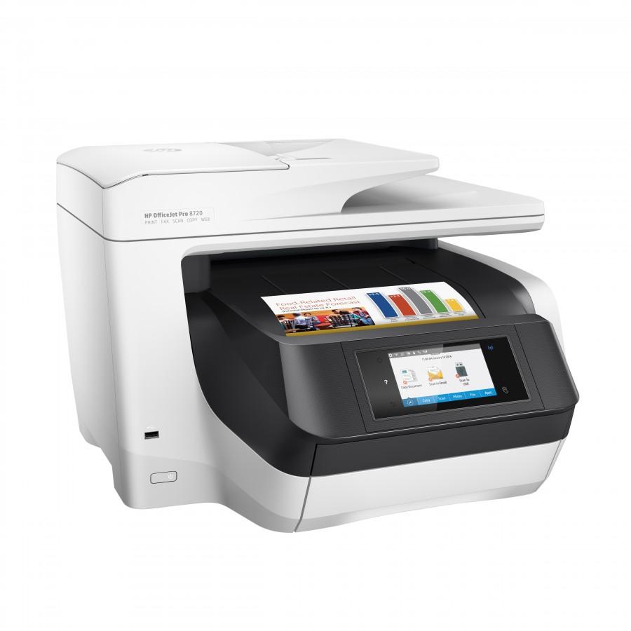 HP OfficeJet Pro 8720 Inyección de tinta térmica 24 ppm 4800 x 1200 DPI A4 Wifi