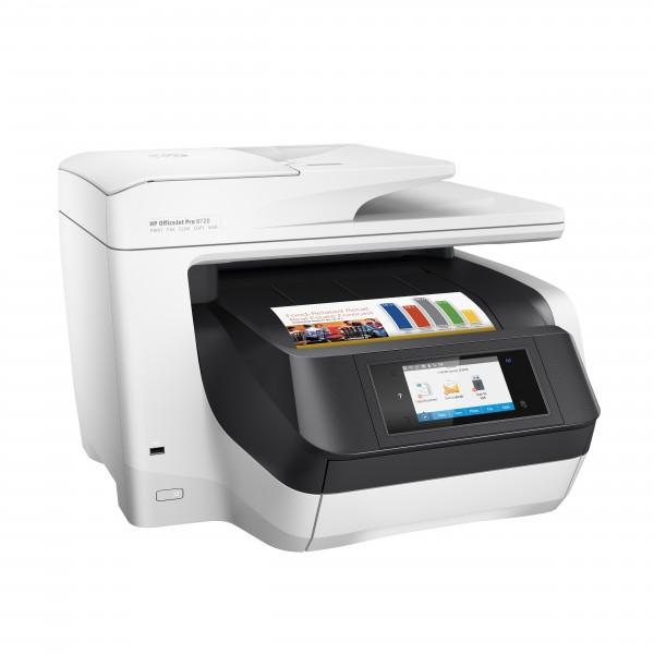 Impresora HP OfficeJet Pro 8720 Inyección de tinta térmica 24 ppm 4800 x 1200 DPI A4 Wifi