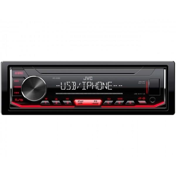 Radio Coche JVC KD-X262 Negro, Rojo 200w