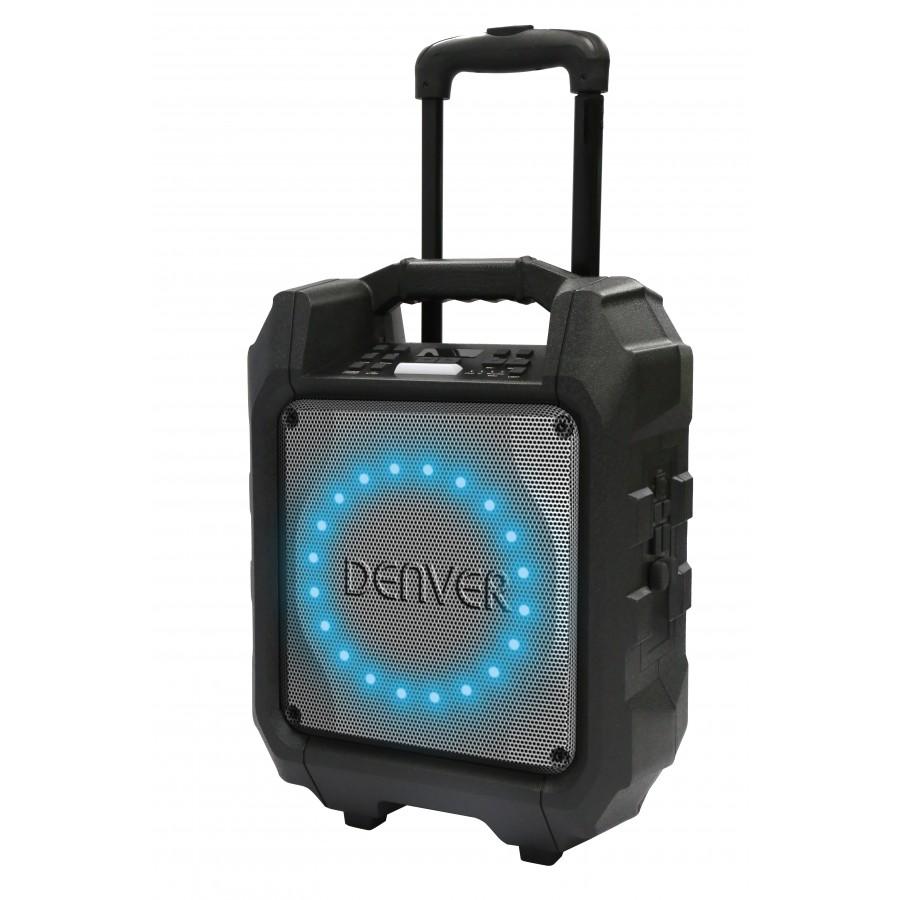 Denver TSP-305 30 W Sistema de megafonía con ruedas Negro