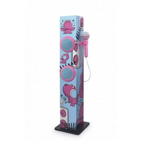 Torre Sonido Muse M-1020KDG Karaoke 30W Rosa