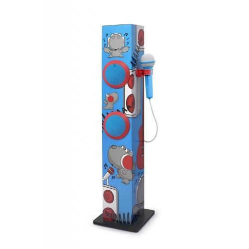 Torre Sonido Muse M-1020KDB Karaoke 30W Azul