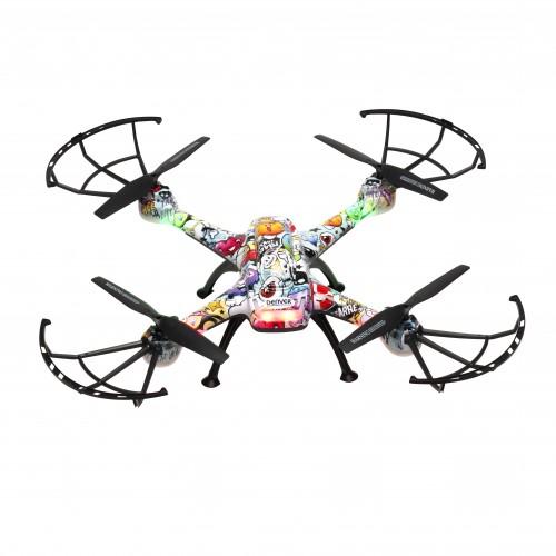 Drone Denver DCH-460 con cámara Cuadricóptero Multicolor 4 rotores 0,3 MP 650 mAh