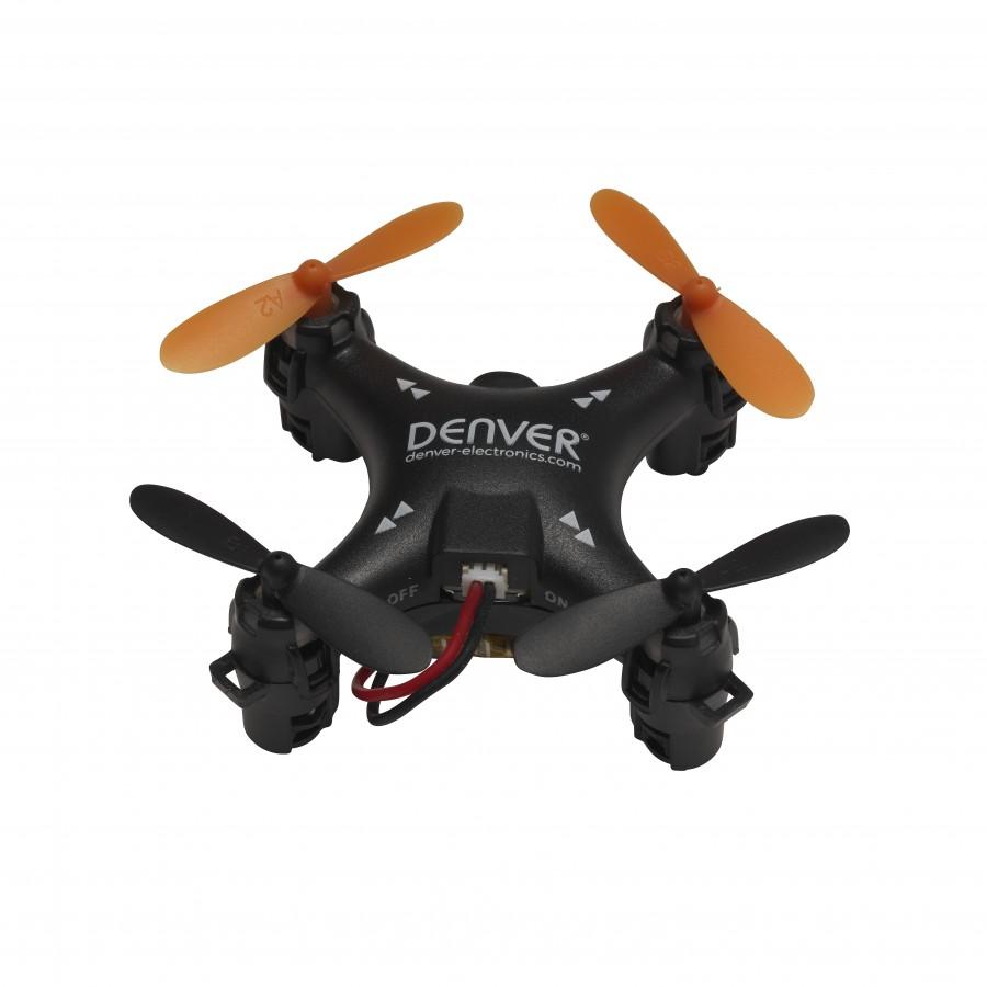 Denver DRO-120 dron con cámara Cuadricóptero Negro 4 rotores 150 mAh