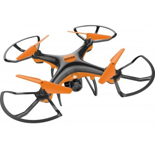 Drone Denver DCH-240 con cámara Cuadricóptero Negro, Naranja 4 rotores 300 mAh