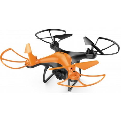 Drone Denver DCH-340 dron con cámara Cuadricóptero Negro, Naranja 4 rotores 1600 mAh