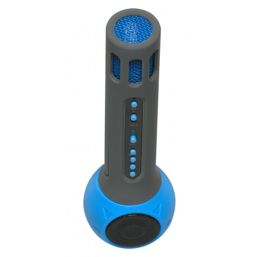 Denver KMS-10BLUE Micrófono para karaoke Azul, Gris