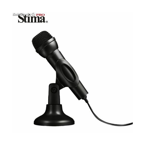 Microfono Stima Con Jack 3.5/6.5 SMD-6354 Negro