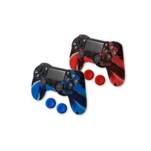 Funda PS4 Kit Silicona Mando 1Xmandos Colores