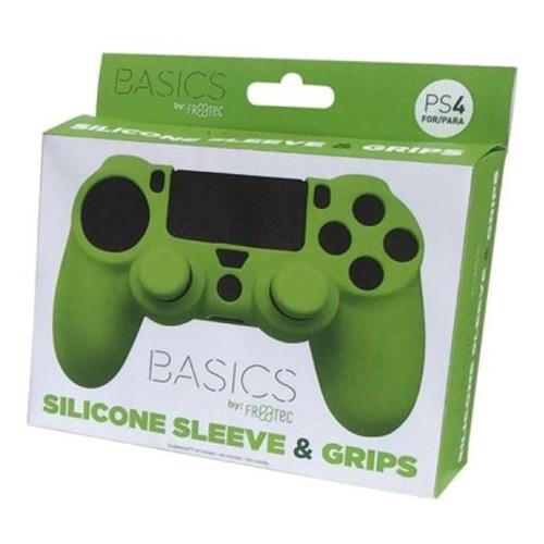 Funda FR-TEC Mando PS4 Silicona Grips Verde FT0008