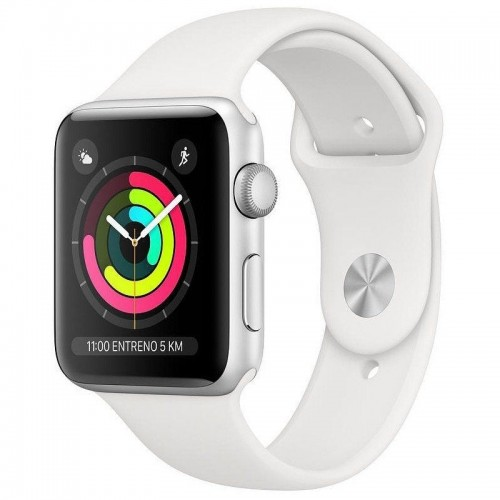 Apple Watch S3 42MM GPS Silver Sport Band White