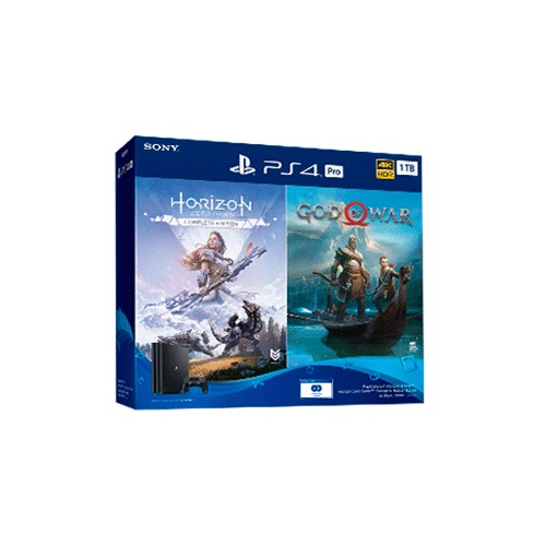 Consola PS4 Pro 1TB + God Of War + Horizon