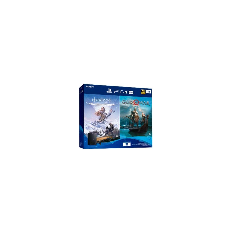 CONSOLA PS4 PRO 1TB + GOD OF WAR + HORIZON