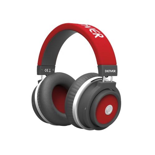 Auriculares Denver BTH-250 RED Diadema Negro, Rojo
