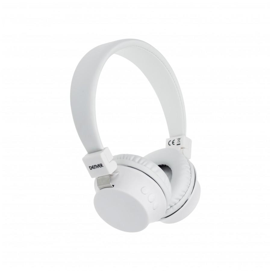 Denver BTH-205WHITE Auriculares Diadema Blanco