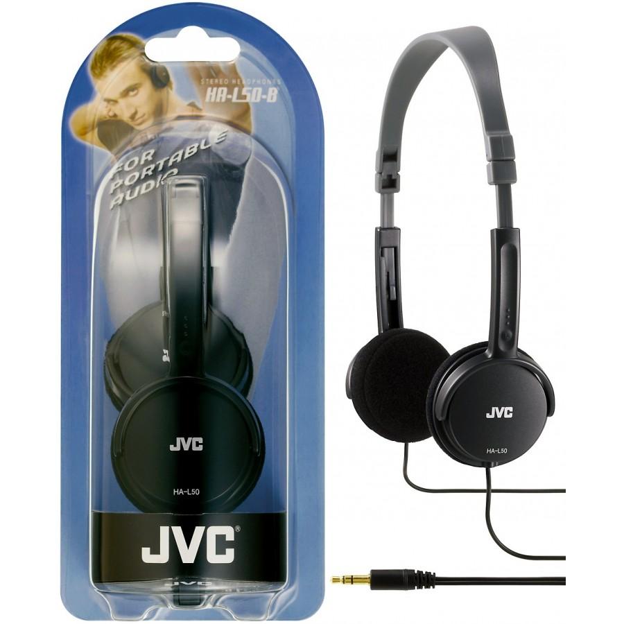 JVC HA-L50-B auricular y casco Auriculares Diadema Negro