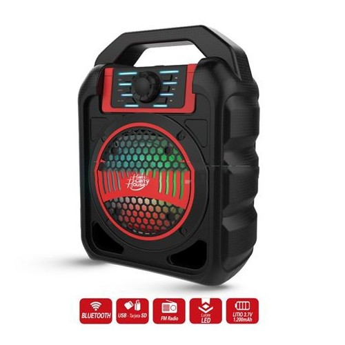 Altavoz Portatil Larry House LH1528  Rojo