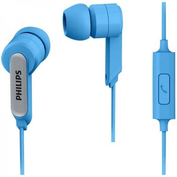 Auriculares Philips SHE1405 Con Mic Azul