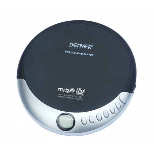 Reproductor de CD portátil Denver DMP-389 Negro, Plata