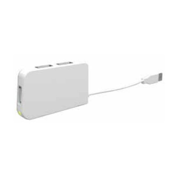 Hub USB Approx APPHT4 480 Mbit/s Blanco
