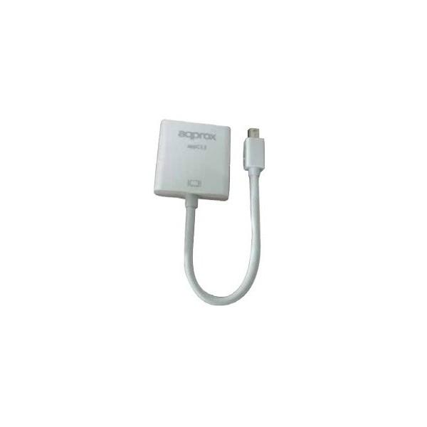 Adaptador Approx appC13V2 0,18 m Mini DisplayPort VGA (D-Sub) Blanco