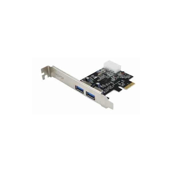 Tarjeta y adaptador de interfaz Approx APPPCIE2P3 USB 3.0 Interno