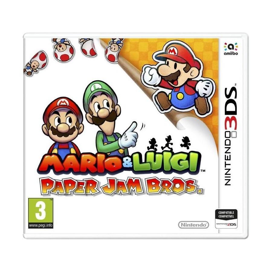 Juego Mario Luigi Paper Jam Bros Nintendo 3ds