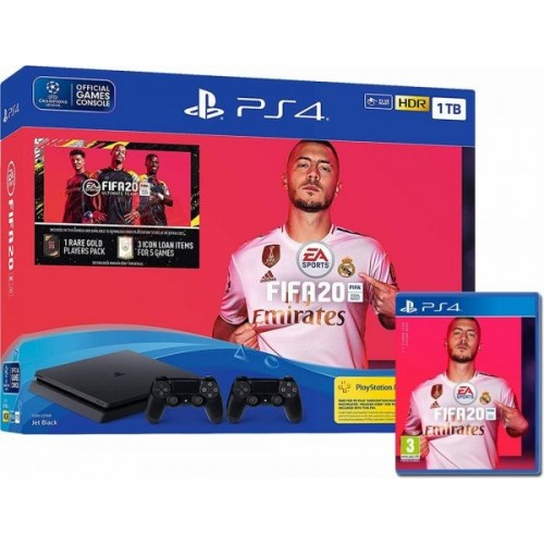 CONSOLA PS4 SLIM 500GB + FIFA 20 + DUALSHOCK