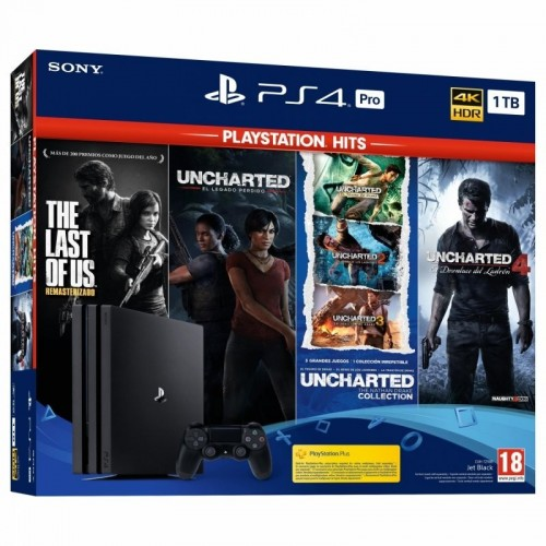 CONSOLA PS4 PRO 1TB + The Last of Us + Uncharted Collection + Uncharted 4