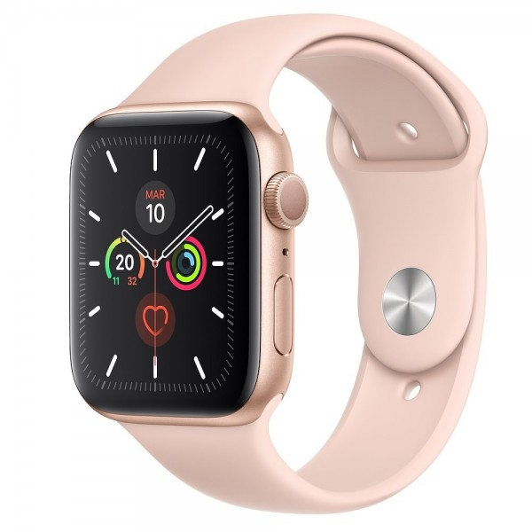 Apple Watch S5 40mm + GPS Dorado con Correa Deportiva Rosa