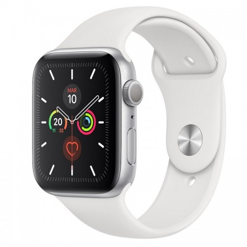 Apple Watch S5 40mm + GPS Plata con Correa Deportiva Blanca