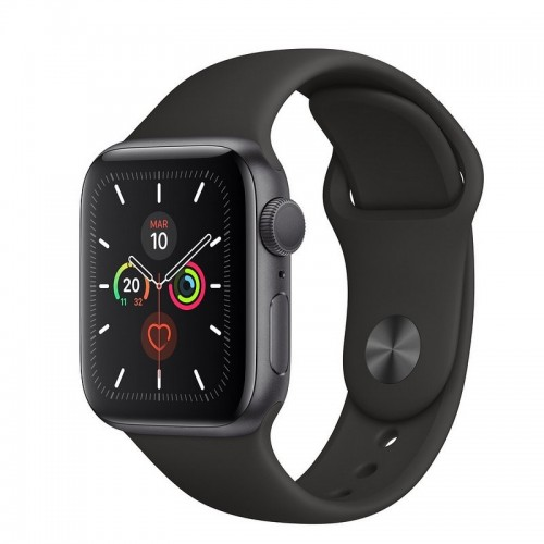 Apple Watch S5 40mm + GPSGris Espacial con Correa Deportiva Negra