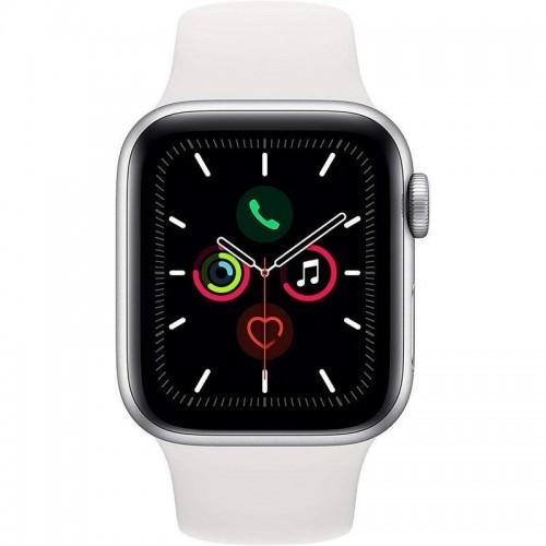 Apple Watch S5 40mm + Cellular Plata con Correa Deportiva Blanca